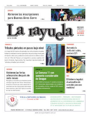 Tapa edición impresa 11/2020